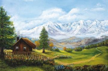 Landscape - The mountain landscape is very nice and it is very fertile