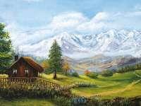 paisagem - a paisagem da montanha é muito agradável e muito fértil