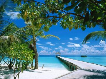 Maldives - beautiful holiday view