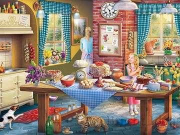 Kitchen interior. - Colorful kitchen interior.