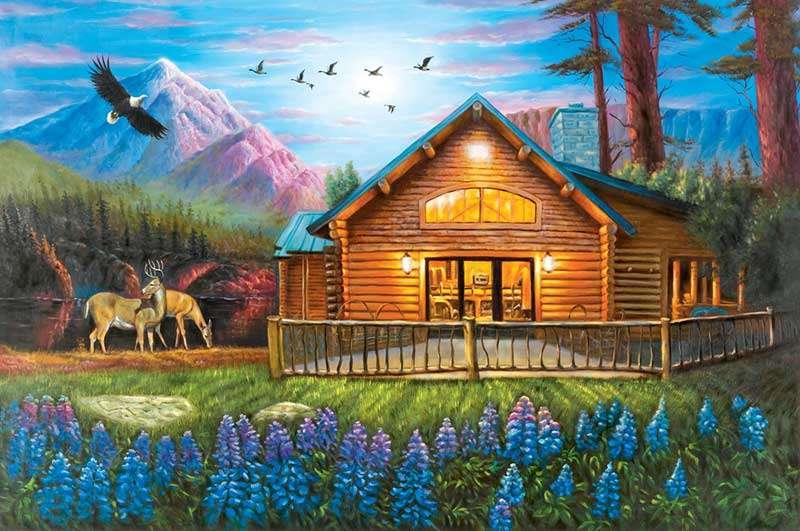 Hegyi kunyhó - Víkendház a hegyekben. Fekvő. Hegyi kunyhó. Building. Víkendház a hegyekben (15×15)