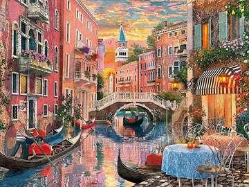 Gondola around Venice. - Italy. Gondola around Venice.