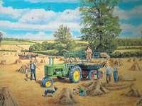 Αγροτικό τοπίο. - Art. Αγροτική ζωγραφική.