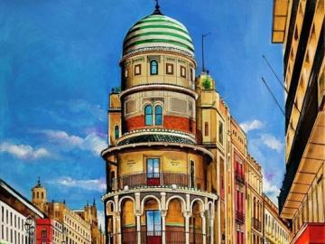 Seville puzzle - Seville puzzle, street, center, cab