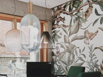 Stylowe wnętrze - butelkowa zieleń - Pięknie urządzony salon, butelkowa zieleń