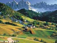 En los Dolomitas italianos.
