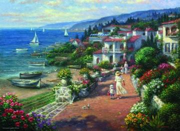 A walk by the sea. - Puzzle: walk by the sea.