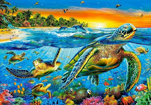 Wodny świat. puzzle