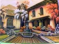 Илюстрация, къща с градина