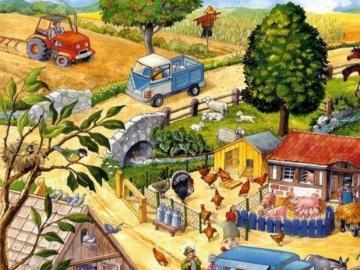 Arbeit zur Erntezeit - Arbeit bei der Ernte Abbildung