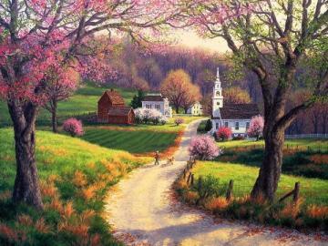 Paisaje rural - Puzzle: paisaje rural.