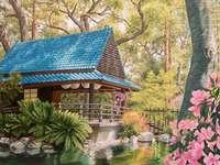 Гейша в японска градина