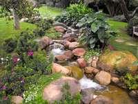 ручей в градината