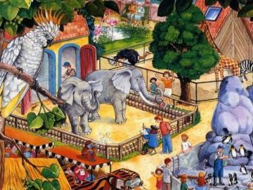 Ein Ausflug in den Zoo - Eine Reise zur Zooillustration