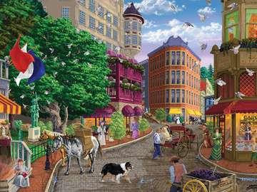 Colorful town. - Kolorowe miasteczko