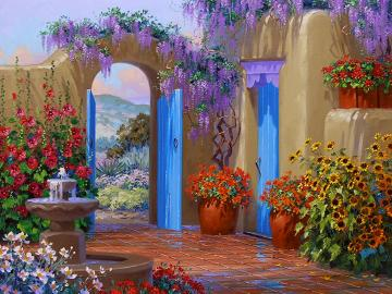 Malowany ogródek. - Sztuka. Malarstwo. Układanka.