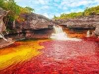 Röd flod. - Landskap. Den röda floden.
