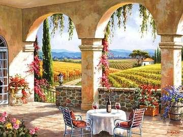 Tuscan landscape. - Puzzle: Tuscan landscape.