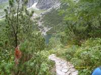 Morskie Oko - Morskie Oko, décoration des montagnes de Tatra