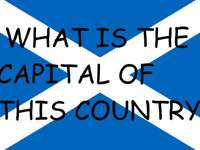 Skotsk flagga - Pussel med flaggan från Skottland för att spela med engelska på flyktbanan