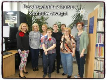 Computer course GROUP 2 - Photo of participants of the computer course organized in the Municipal Public Library in Chybie