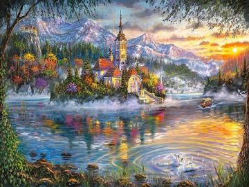 Malowany krajobraz. - Sztuka. Malowany krajobraz.