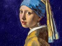 """Girl with a pearl - The Girl with a Turban, also known as Girl with a Pearl Earring (""""Meisje met de parel""""), i"""