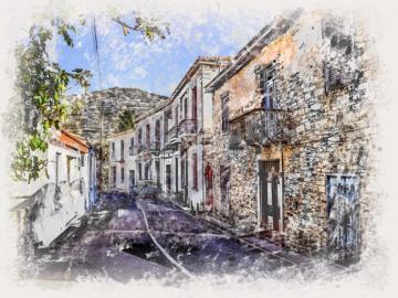 Malarstwo uliczne - Ulica w stylu obrazu