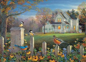Landscape with a villa. - Puzzle: landscape with a villa.