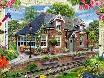 Railway landscape. - Kolejowy krajobraz