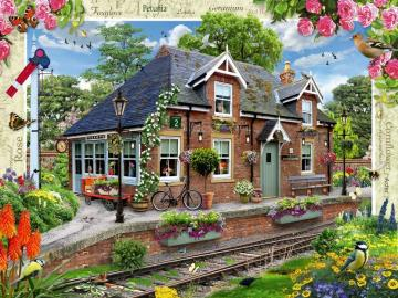 Eisenbahnlandschaft. - Kolejowy krajobraz
