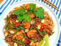 Pad Thai with prawns - Colorful Pad Thai with shrimps