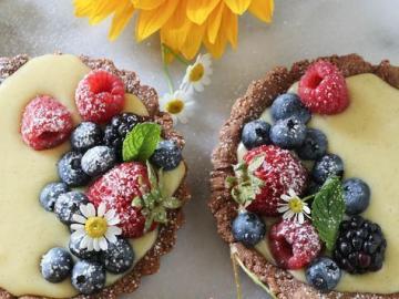 Small lemon tarts - Lemon muffins with fruit