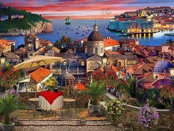 Seaside town. - Puzzle: coastal city.