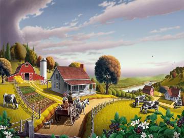 Kolorowa farma. - Układanka: kolorowa farma.