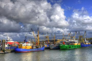 Fishing port - Place of staging boats before the next cruise. Time for rest and minor repairs. Cutters in the port