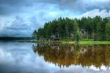 By the lake - Nature and lake in the bosom of nature.