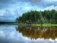La lac - În sânul naturii, lacul și pădurea.