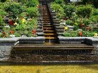 Lépcsőzetes és virágok