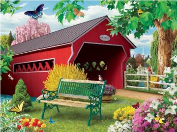 A colorful picture. - Colorful landscape puzzle.