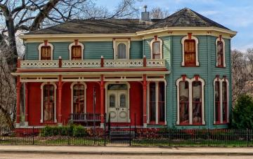 A nice house - Interesting house colors.