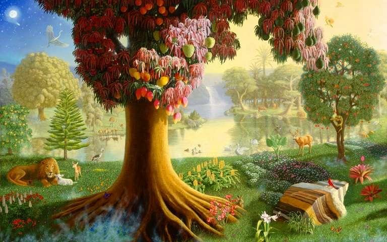 Fairytale landscape. - Puzzle: a fairytale landscape.