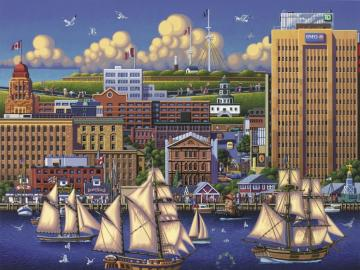 Kanada. Halifax. - Kanadská krajina. Halifax.