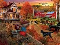 Podzim na farmě.