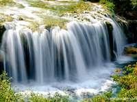 Waterfall . - Waterfall Croatia.