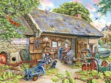 Werkstatt im Haus - Werkstatt zu Hause, Illustration
