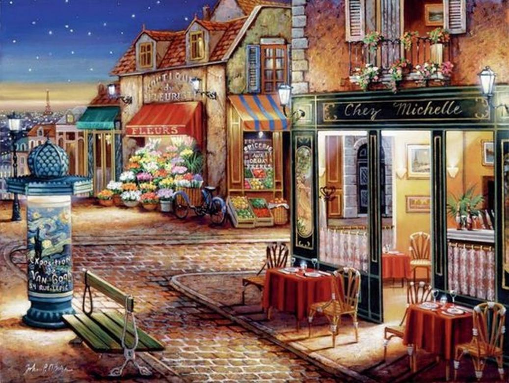 Parisian views - Paris view, illustration (14×11)