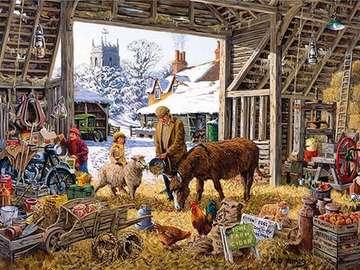 in einer ländlichen Scheune - In einer ländlichen Scheune Illustration