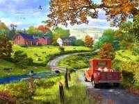 viață rurală, puzzle