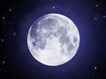 Pełnia księżyca - Puzzle przedstawiające pełnię księżyca.
